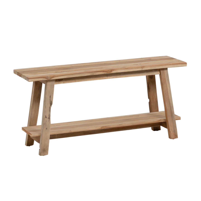 Banco de entrada Sifara, madeira teca natural
