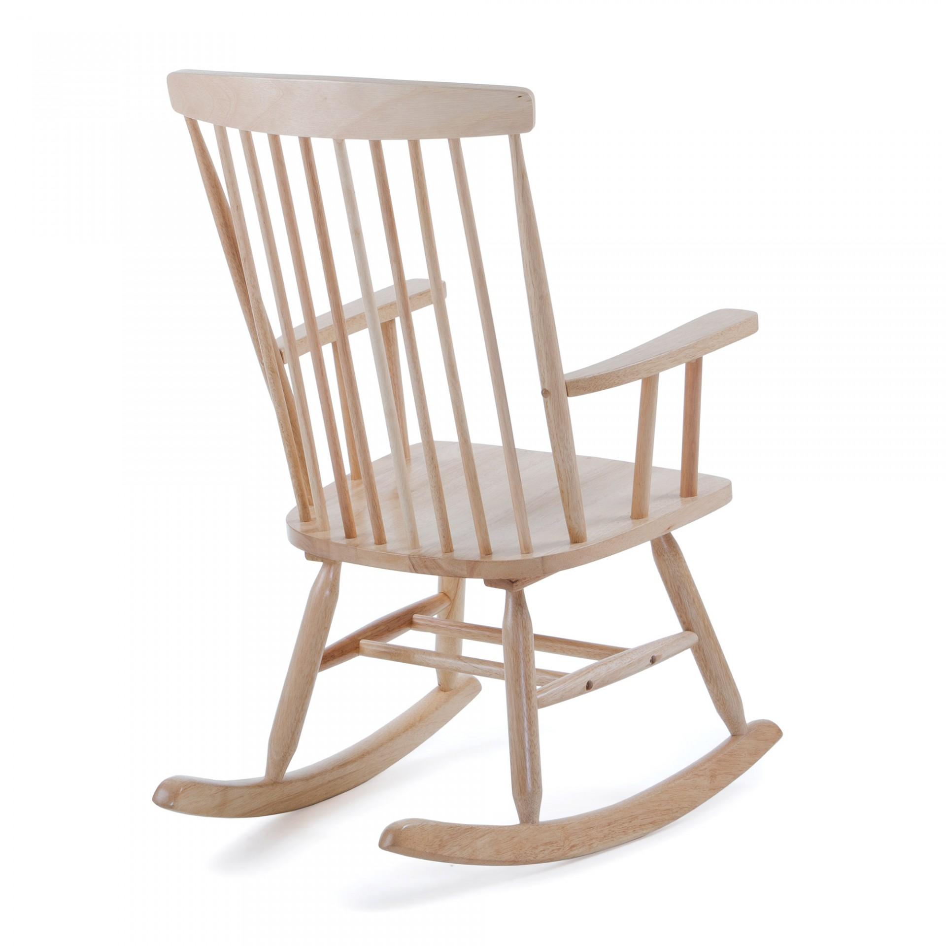 Cadeira de baloiço Menzo, madeira de seringueira natural