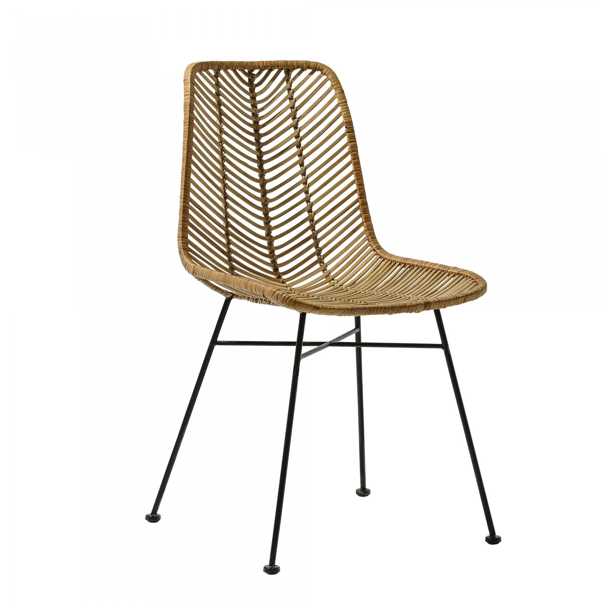 Cadeira Lena, rattan natural