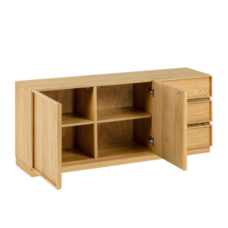 Aparador Taia, madeira de carvalho, 160x68