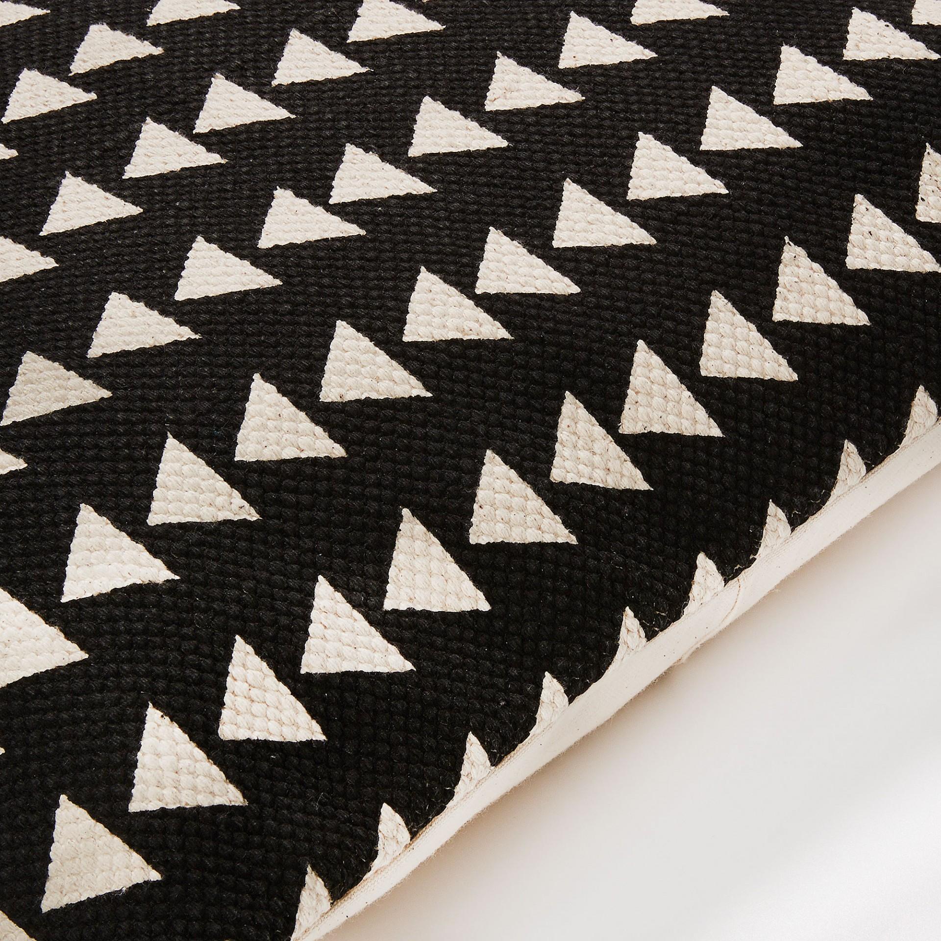 Capa de almofada Alina, preto/branco, 45x45