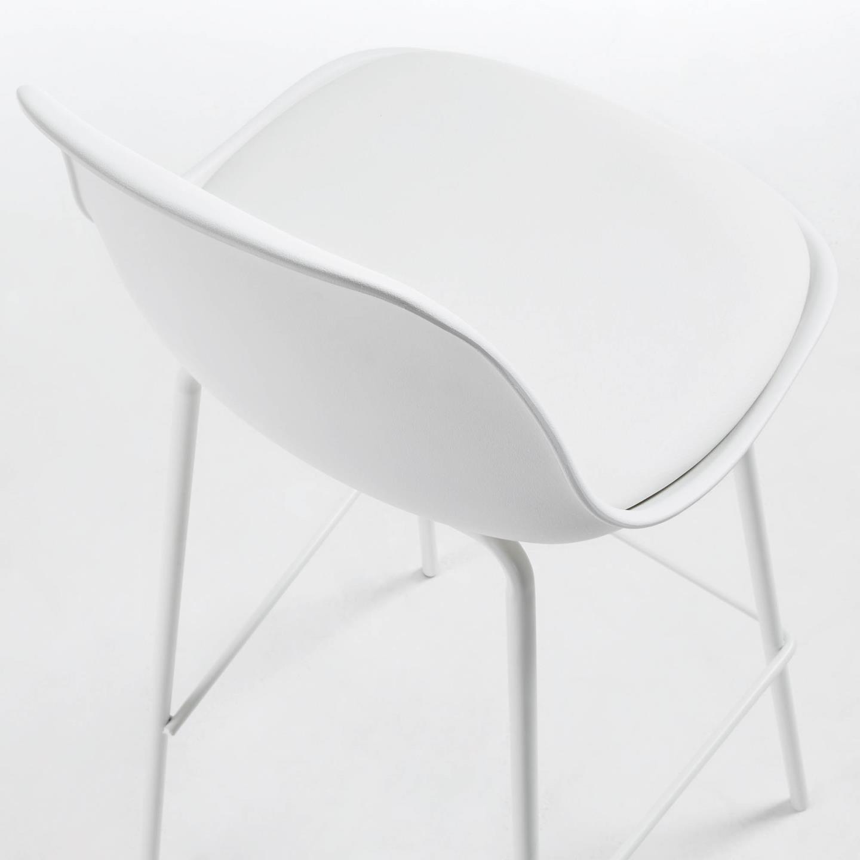 Cadeira de bar Brigth, acolchoada, branco