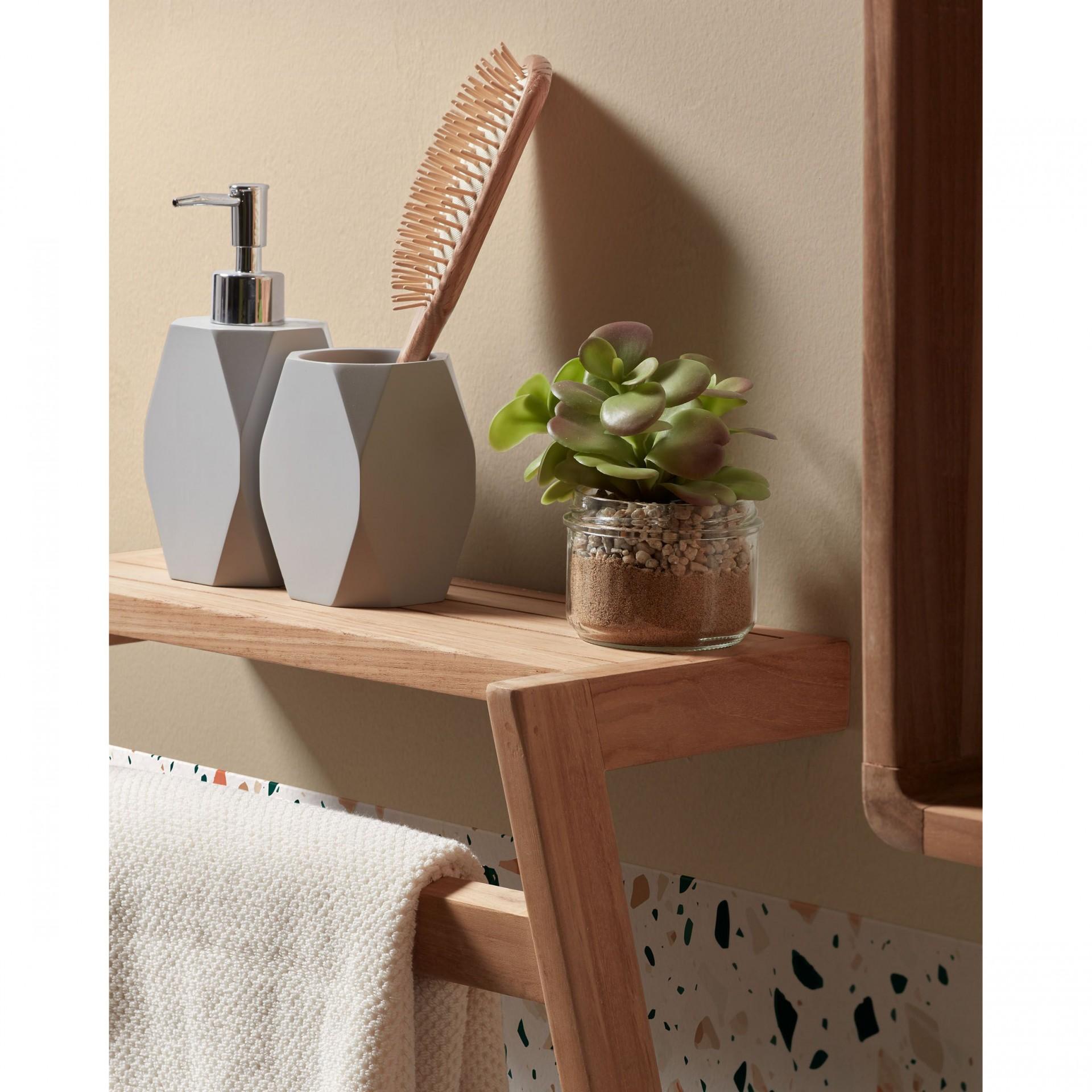 Toalheiro Kuvan, p/casa de banho, madeira teca