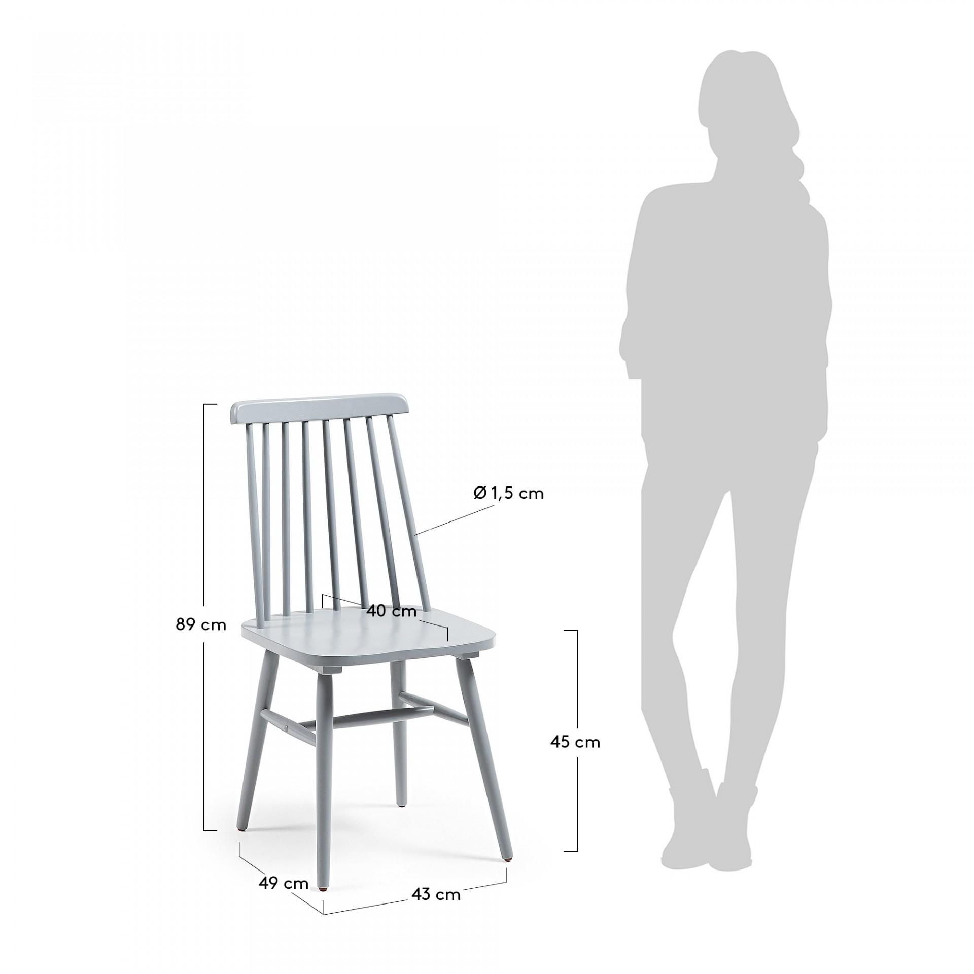 Cadeira Tilea, madeira de seringueira