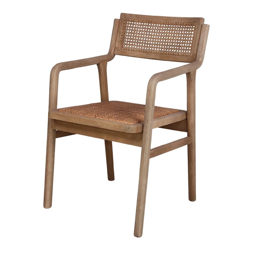 Cadeira Izzo, madeira de olmo/rattan