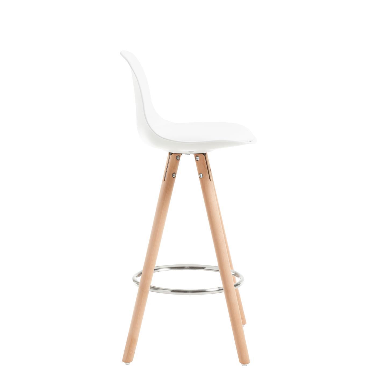 Cadeira de bar Slade, acolchoada, branco, 65cm