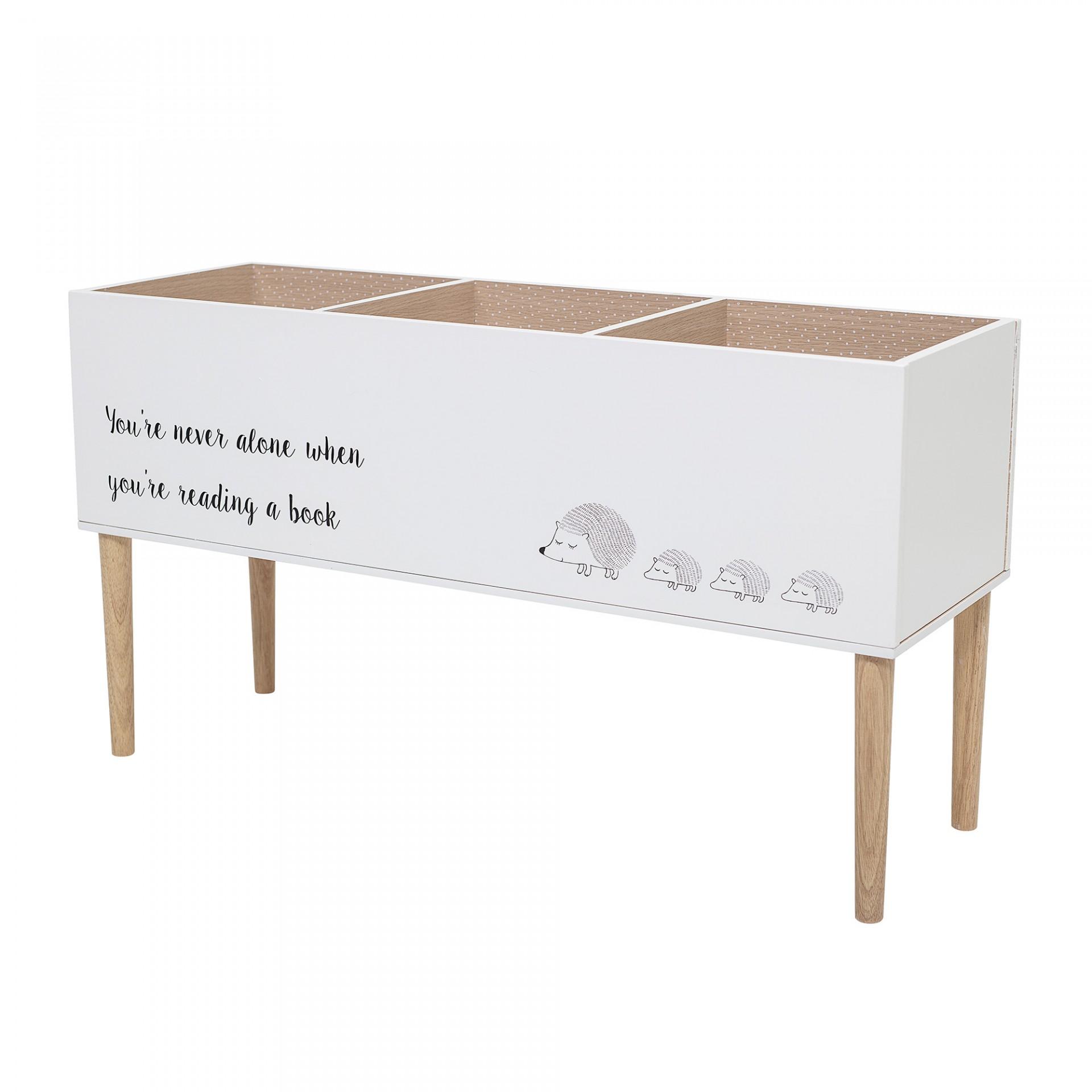 Estante infantil, madeira de pinho/MDF, branco