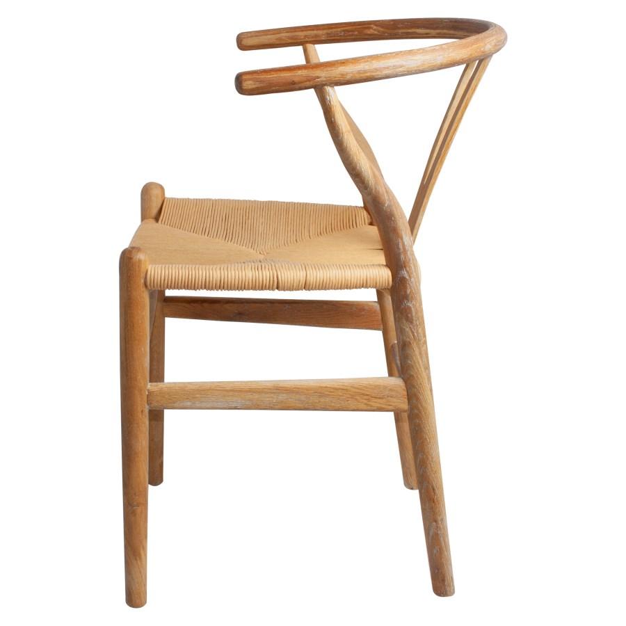 Cadeira Wishbone, carvalho envelhecido