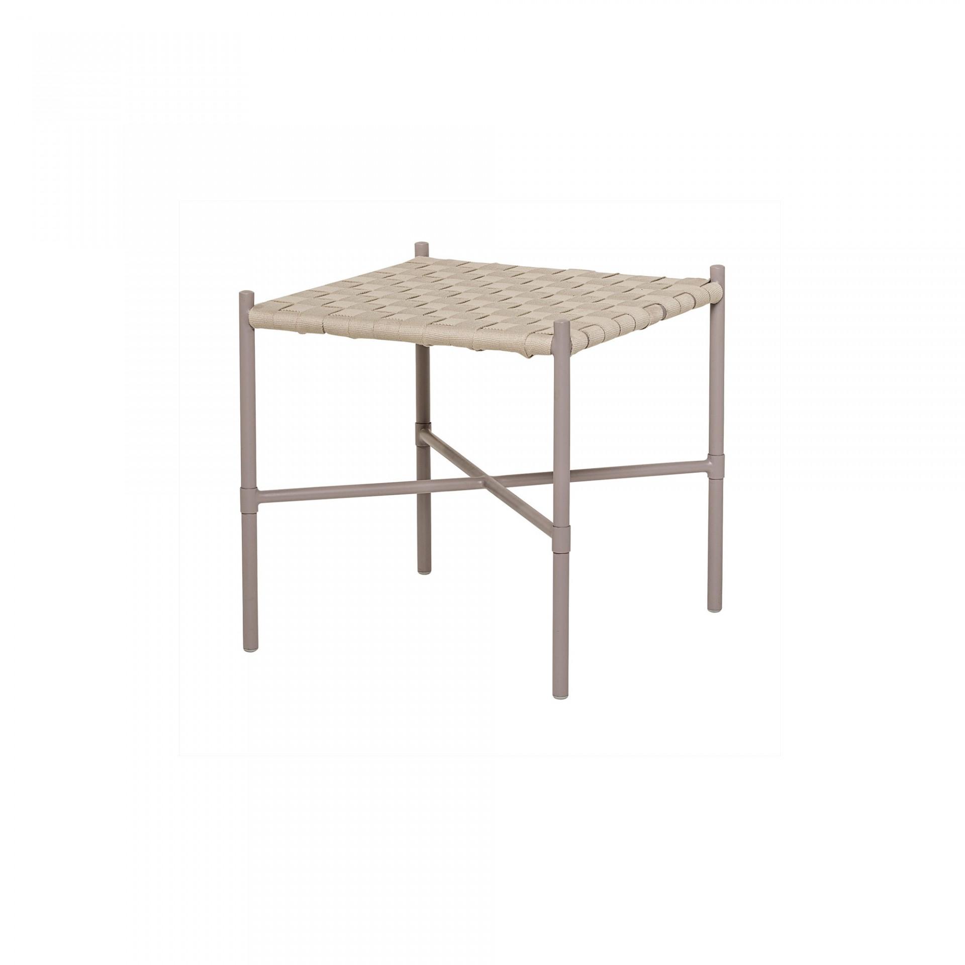 Tamborete Cross, algodão/metal, 45x45x45