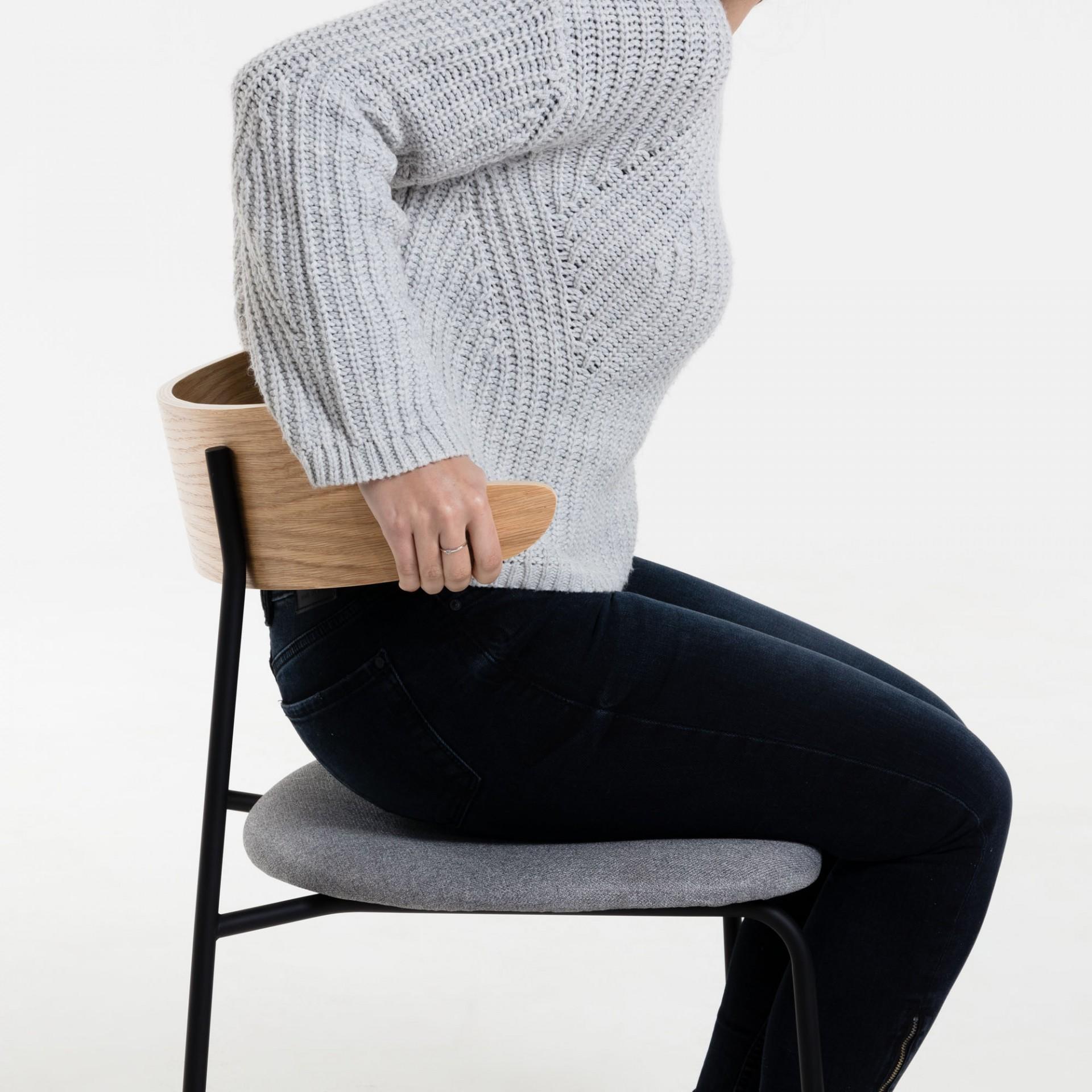 Cadeira Olimpa, madeira/metal