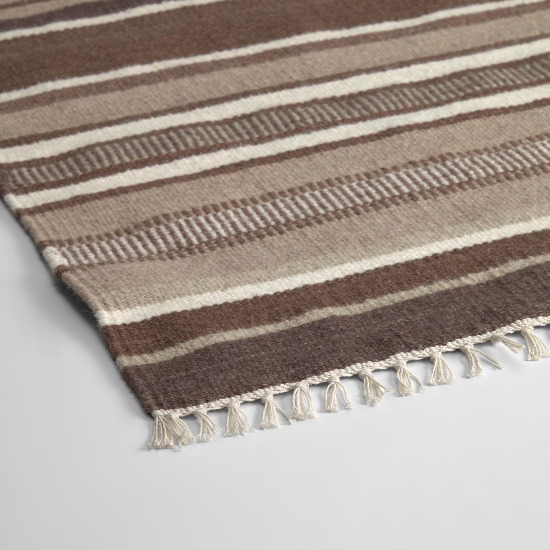 Tapete Rondha, lã/algodão, marron, 140x70