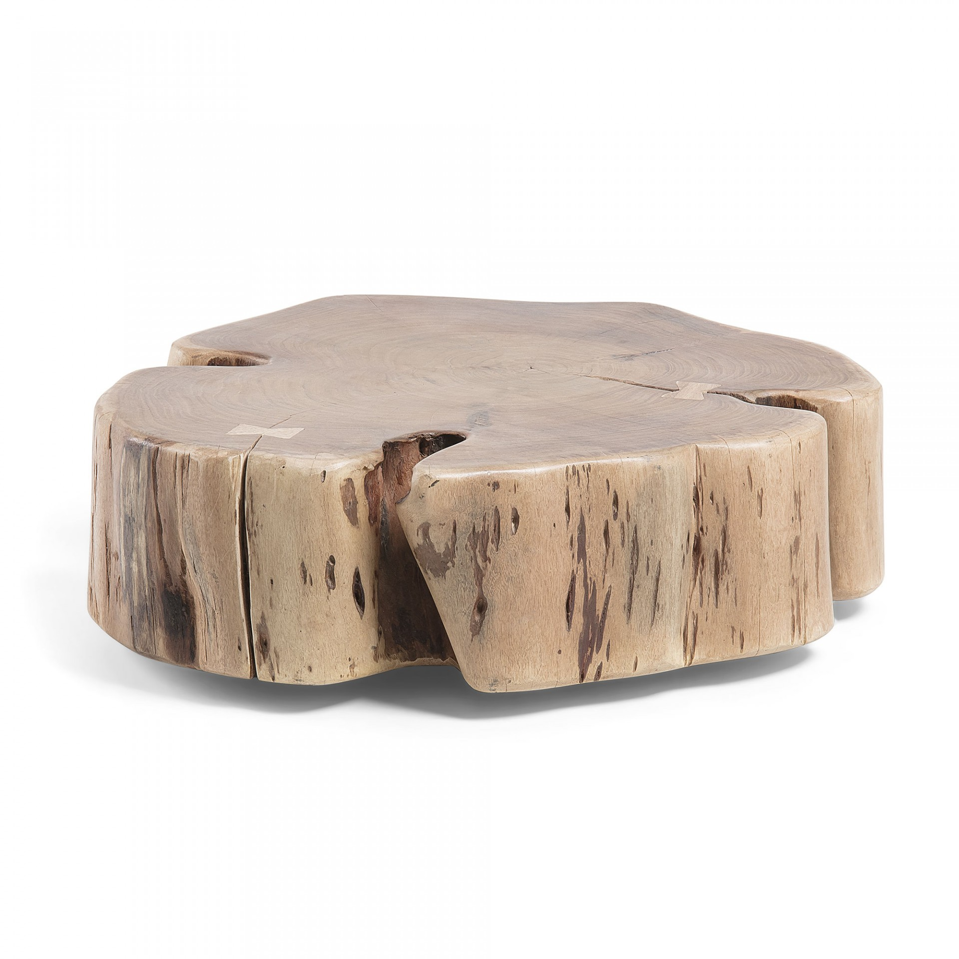 Mesa de centro Wheel, c/rodas, madeira de acácia natural, Ø65x23