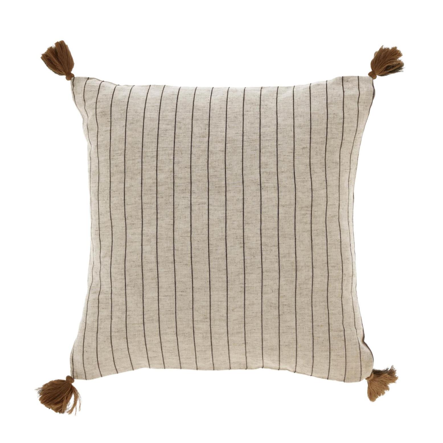 Capa de almofada Sagui, bege/marron, 45x45