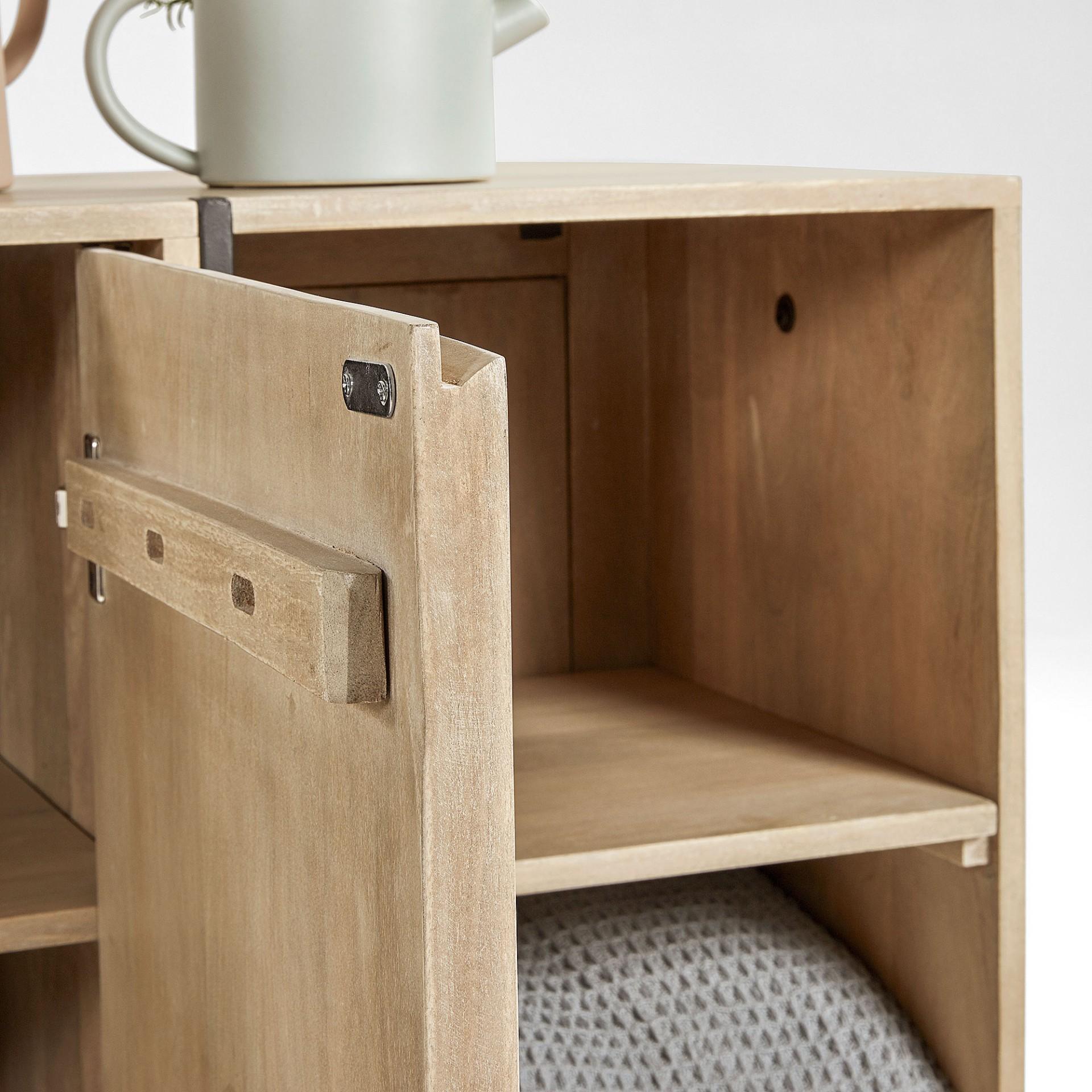 Aparador Palma, madeira de manga natural, 185x80