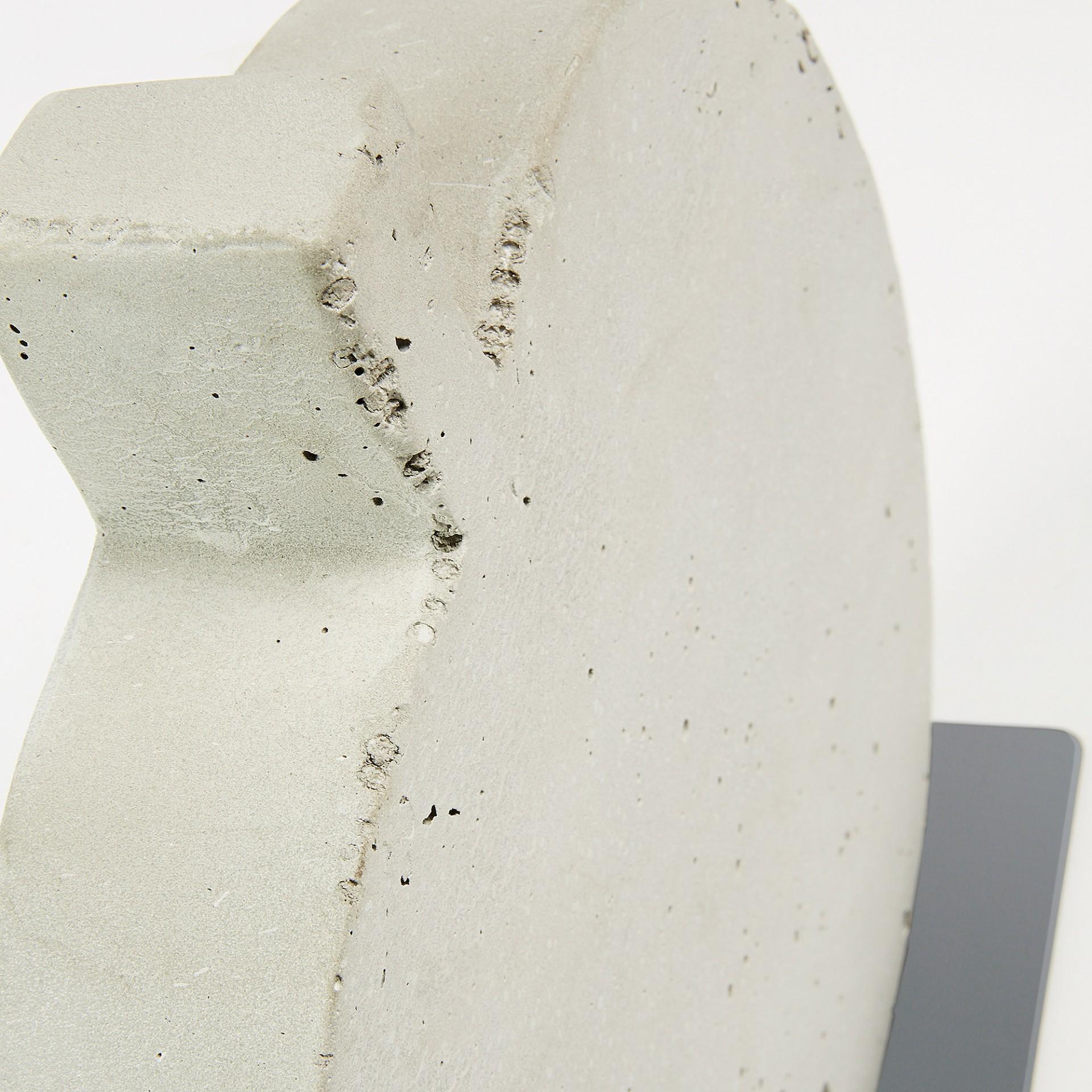 Maçã decorativa, concreto, branco, 30x28