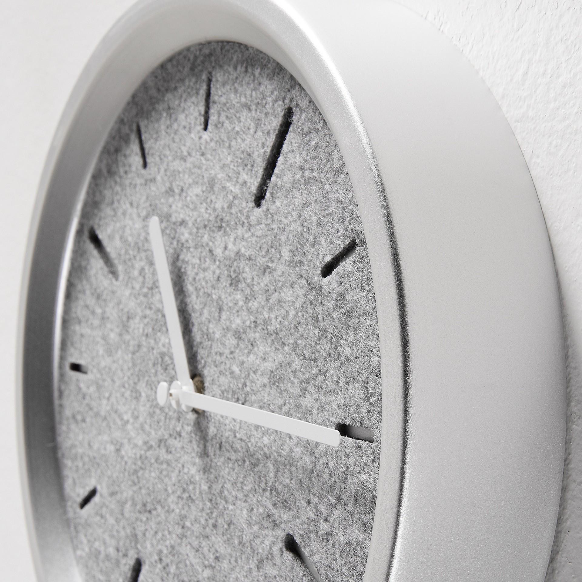 Relógio de parede com pêndulo, cinza, Ø24x4,5x49