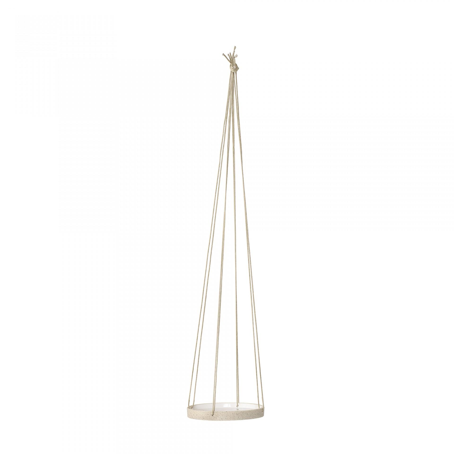 Suporte p/vaso, cerâmica, branco/bege, Ø16X80