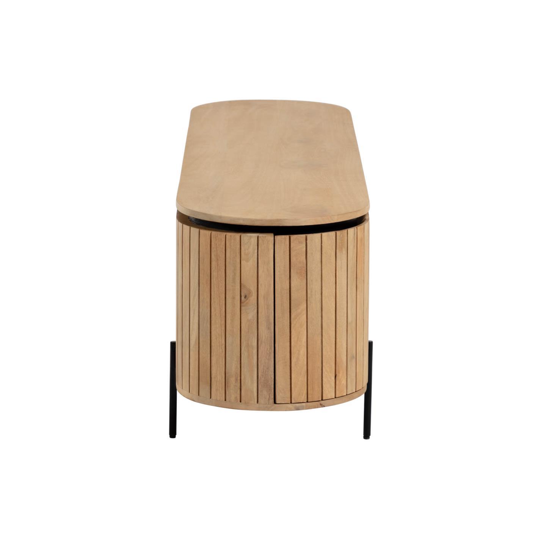 Móvel TV Lucya, madeira de manga natural, 160x55