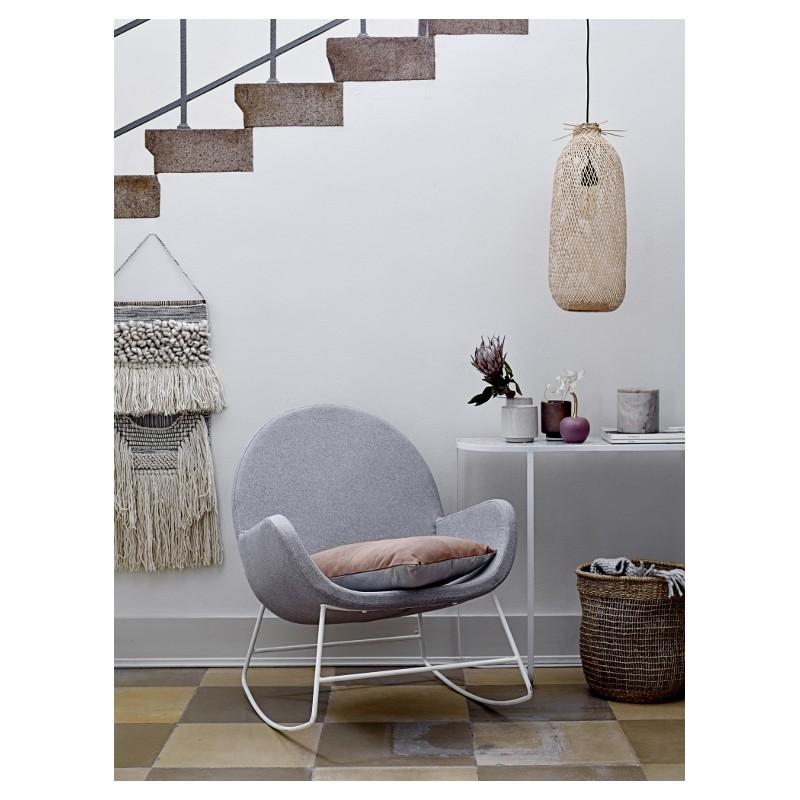 Cadeira de baloiço Liva, estofado, cinza