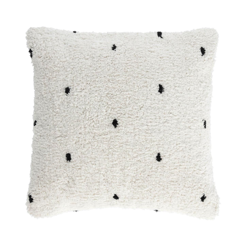 Capa de almofada Merida, algodão, branco, 45x45