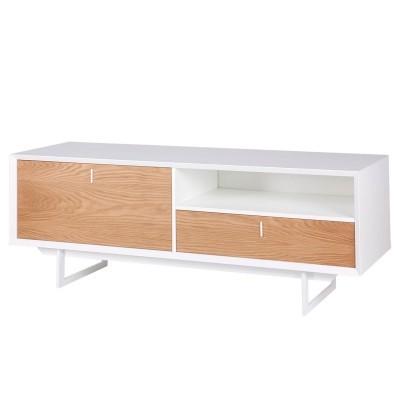 Móvel TV Porto, MDF lacado/madeira de carvalho, 165x58