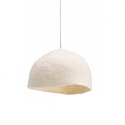 Candeeiro de tecto reversível, lã de feltro, branco, Ø30x12