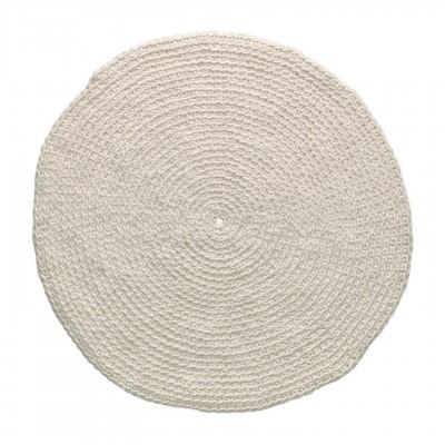 Tapete Poopy, lã natural, branco, Ø150