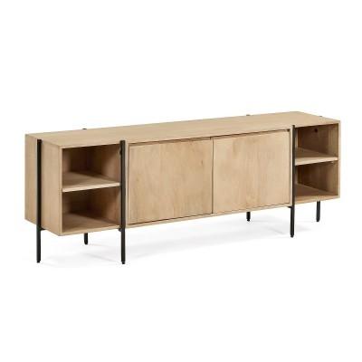 Móvel TV Palma, madeira de manga natural, 160x56