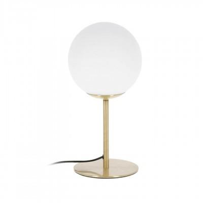 Candeeiro de mesa Mhala, vidro opaco/metal, Ø13x28
