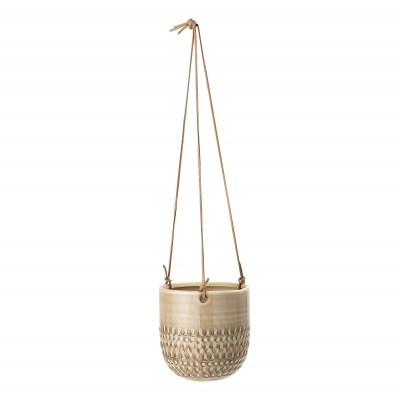 Vaso suspenso, cerâmica, bege, Ø15x15