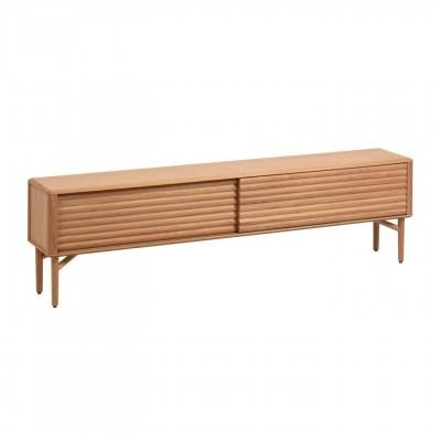 Móvel TV Lenni, madeira de carvalho natural, 200x57