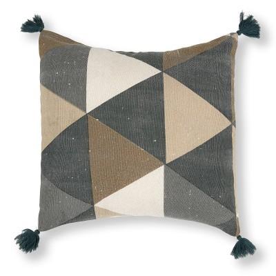 Capa de almofada Geomi, algodão, 45x45