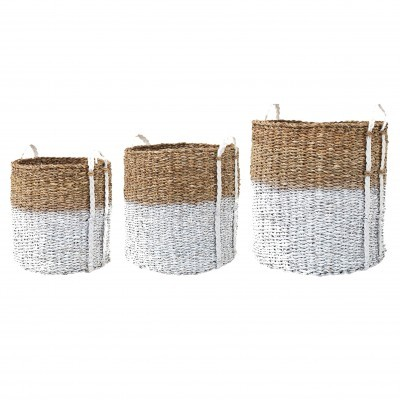 Cestas em seagrass, branco, (Conj.3)