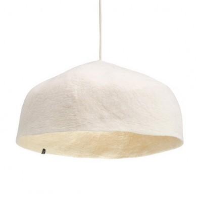 Candeeiro de tecto reversível, lã de feltro, branco, Ø50x16