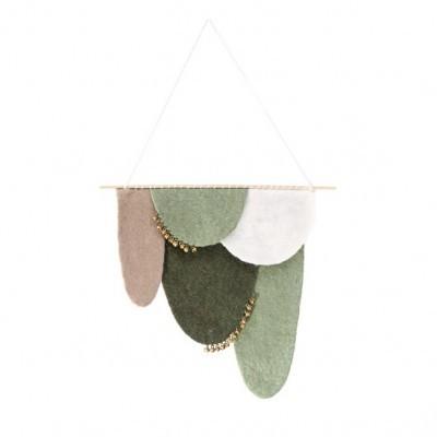 Decoração de parede em lã de feltro, multicolor, 30x35