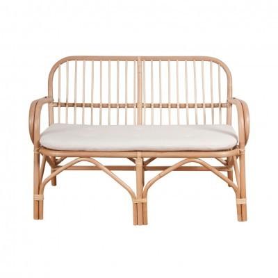 Banco Allegri, 2x lugares, c/almofada, bambu natural