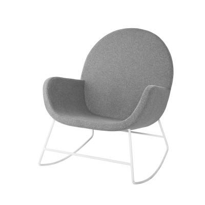 Cadeira de baloiço Liva, estofado, cinza, 76x92x92