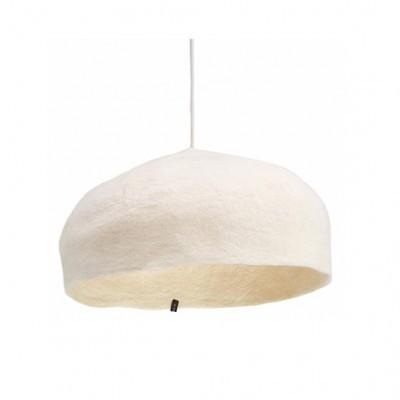 Candeeiro de tecto reversível, lã de feltro, branco, Ø40x14