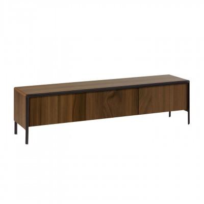 Móvel TV Nadya, madeira de nogueira, 180x50