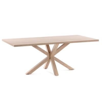 Mesa de jantar Arge, melamina/metal, natural, 160x100