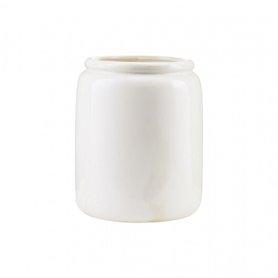 Vaso Just, cerâmica, branco