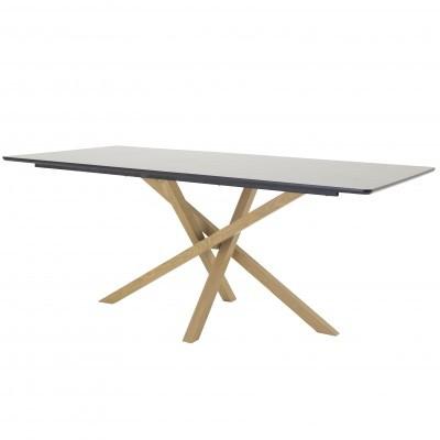 Mesa de jantar Piazza, MDF/metal, preto, 180x90