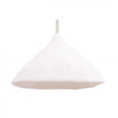 Candeeiro de tecto reversível, lã de feltro, branco, Ø43x30