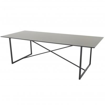 Mesa de jantar Palace, MDF/metal, preto, 240x100