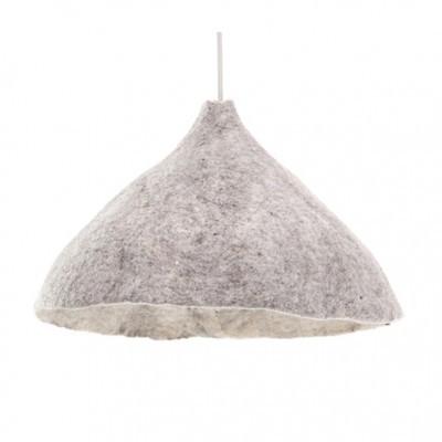 Candeeiro de tecto reversível, lã de feltro, mármore, Ø43x30