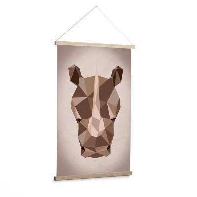 Quadro de parede Nómada, rinoceronte, 90x60