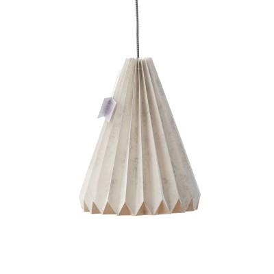 Abajur de papel Origâmi, modelo Solpor, mármore