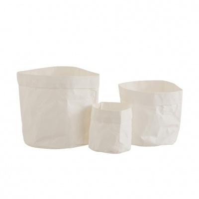 Vasos de papel Kraft, branco, (Conj.3)