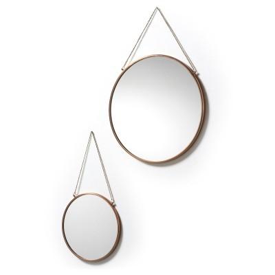 Espelhos Niky, metal, bronze, (Conj.2)
