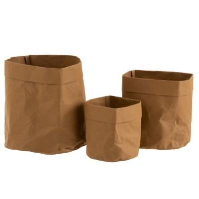 Vasos de papel Kraft, castanho, (Conj.3)